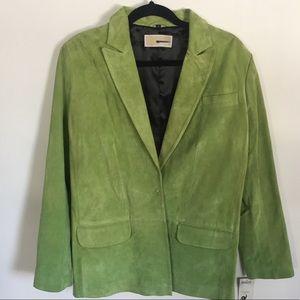 SZ Small Michael Kors Green Suede Blazer